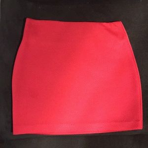BCBG red skirt